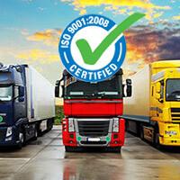 Послуги сертифіковані<br /> за стандартами ISO 9001